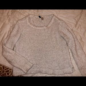 White H&M Off the shoulder Sweater